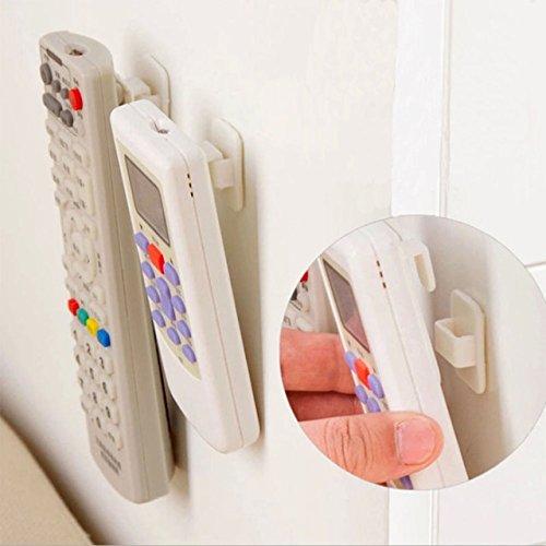 showll 4/Set TV TV Aire Acondicionado mando a distancia Soporte de estante Sticky ganchos para mando a distancia Self Adhesive Strong colgador Soporte de pared Sensor
