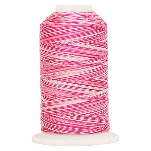 - Threadart Variegated 100% Cotton Thread 600M | For Quilting, Sewing, and Serging | Color 0902 Roses | 40/3wt | 22 Colors Available