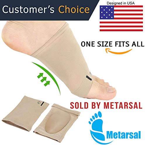 Metarsal Compression Arch Support Sleeves Sock with Comfort Gel Pad - Sole Support Sock