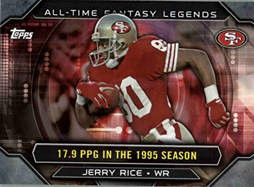 - 2015 Topps All Time Fantasy Legends #ATFLJR Jerry Rice - San Francisco 49ers (NFL Football Card)