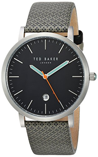 Amazon.com: Ted Baker Mens Graham Stainless Steel Japanese-Quartz Watch with Canvas Strap, Grey, 20 (Model: 10031493: Ted Baker: Watches