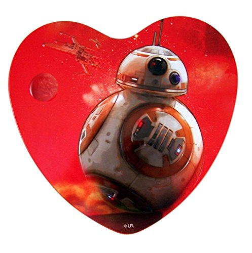 Star Wars Valentines Day BB-8 Heart Tin with Milk Chocolates, 3.38 oz