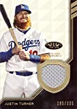 #4: 2018 Topps Tier One Relics #T1R-JT Justin Turner Game Worn Dodgers Jersey Baseball Card - Only 335 made!
