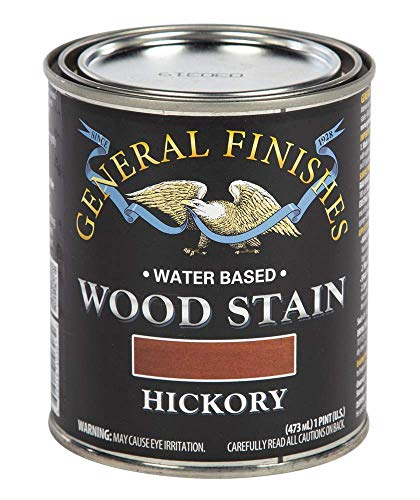 - General Finishes WHPT Water Based Wood Stain, 1 Pint, Hickory