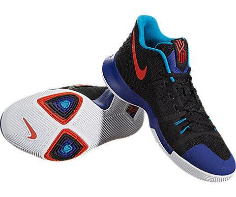 Nike Kyrie 3 Men's Basketball Sneaker (12, Black/Team Orange-Concord)