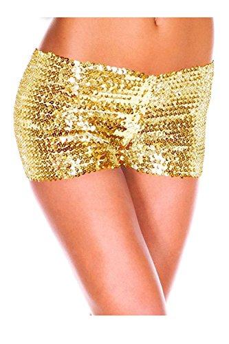 Bassa Vita Occasionale A Pantaloni Puro Yellow Lustrini Pantaloncini Donne caldi Le xwHq81I