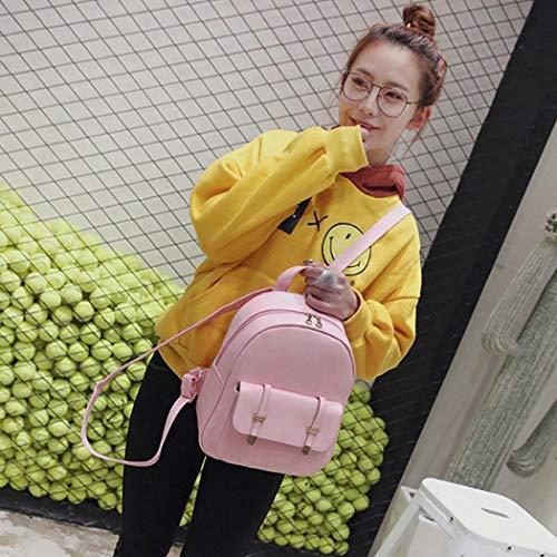 à MIOIM main pour rétro cuir main Rose bandoulière pièces à femmes sac à 3 dos Rose mode sac dos à en sac sac à sac R5qBRxr