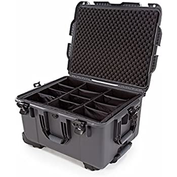 nanuk 960 waterproof hard case with wheels and padded divider graphite camera photo. Black Bedroom Furniture Sets. Home Design Ideas