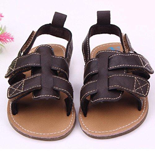 Tefamore Zapatos Sandalia Bebé De Cuero Suave Antideslizante Prewalker Niños Niños Marrón