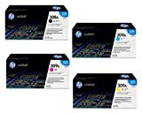 HP Q2670A Q2671A Q2672A Q2673A 308A 309A Color LaserJet 3500 3550 3700 Toner Cartridge Set (Black Cyan Magenta Yellow, 4-Pack) in Retail Packaging
