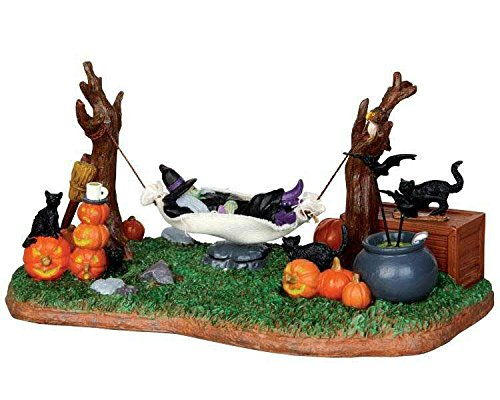 Lemax Spooky Town Witches' R & R Battery Operated # -