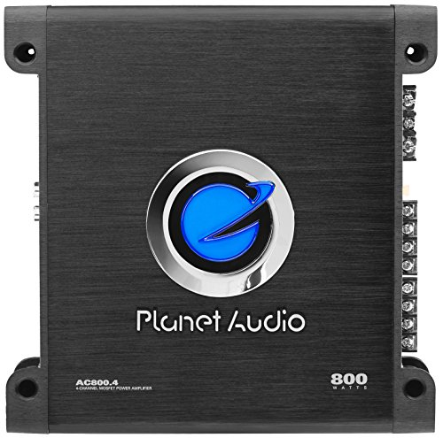 Planet Audio AC800.4 Anarchy 800 Watt, 4 Channel, 2/4 Ohm Stable Class A/B, Full Range, Bridgeable, MOSFET Car Amplifier with Remote Subwoofer Control (Amplifier Car Watt 200 Audio)