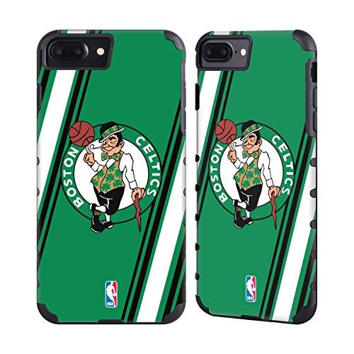 Official NBA Stripes Boston Celtics Gold Gripper Case for Apple iPhone 7 Plus / iPhone 8 Plus (Celtics Boston Snap)