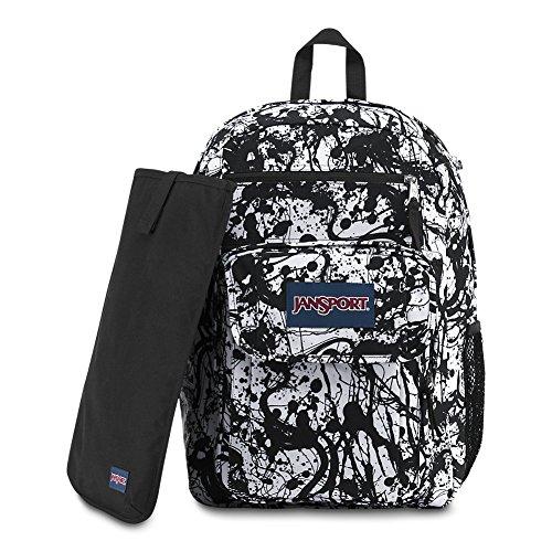 畅销 JanSport Digital Student Laptop Backpack - Black Paintball