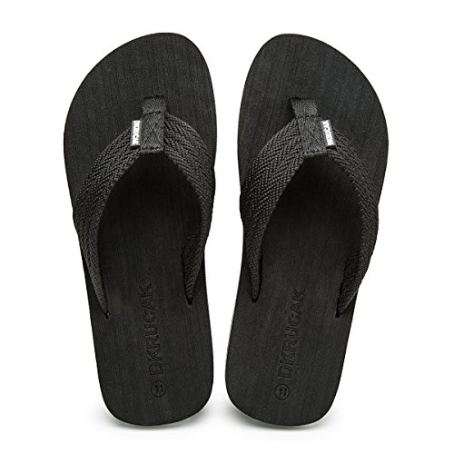 - Men's Flip-Flops with Arch Support Soft Summer Sandals Light Weight Beach Slippers (8 D(M) US, 663black t3)