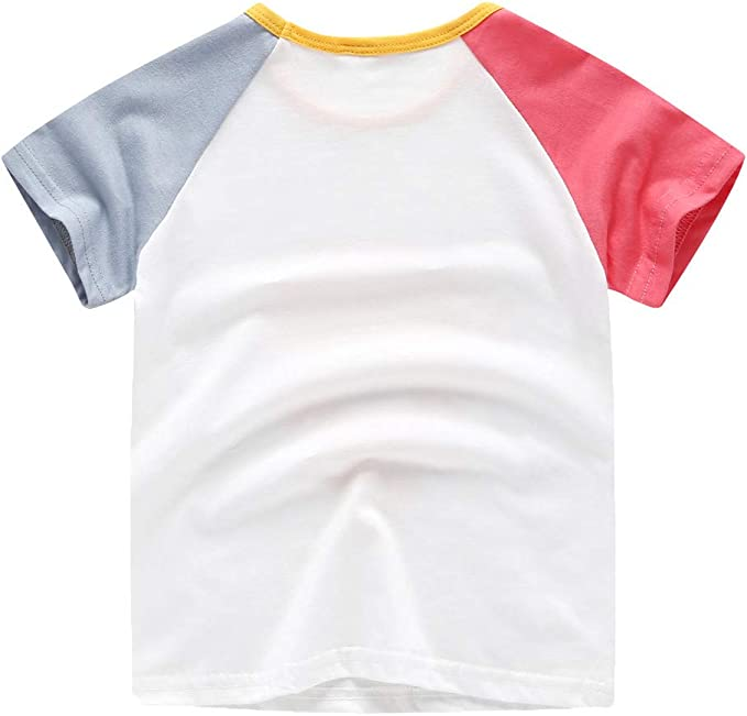 TIANRUN Infant Baby Boys Childrens Short Sleeve Cartoon Animal Lion Dinosaur Print T-Shirt Top Green