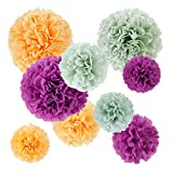 Fabric mie paper pom-poms 9 piece set A 71-5058-00