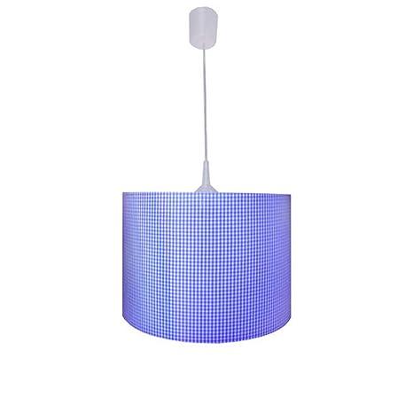 Lámpara de techo cuadros azules: Amazon.es: Iluminación