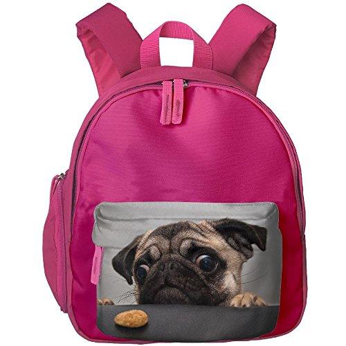 Dog Funny Animals Cookie Gray Children Mini Backpack Pocket Zipper Outdoor Travel School Book Bag