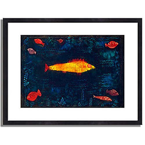パウルクレー 「金色の魚 The Golden Fish. 1925 」 インテリア アート 絵画 壁掛け アートポスターフレーム:木製(黒) サイズ:M(306mm X 397mm) B00L7CJ1PA 2.M (306mm X 397mm)|3.フレーム:木製(黒) 3.フレーム:木製(黒) 2.M (306mm X 397mm)