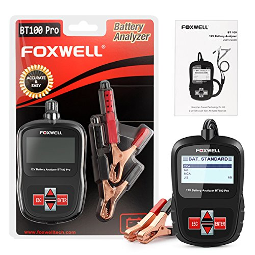 FOXWELL FBA_BT100 Pro Battery Analyzer CCA Automotive Battery Load Tester Detect Health Directly 6V/12V 100-1100 by FOXWELL (Image #7)