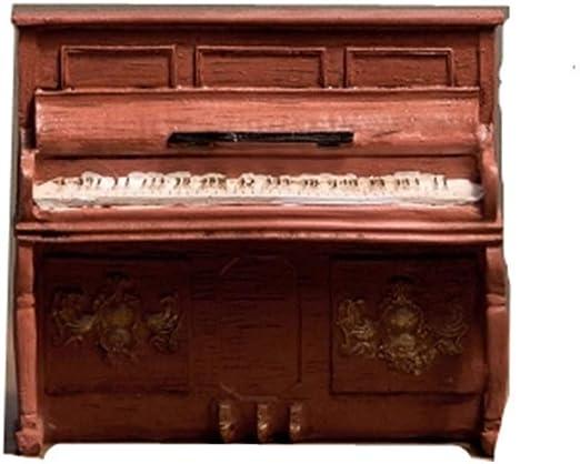 XWYDX Adornos artesanales Antiguo Vintage Adornos for Piano Estudio Europeo En Casa Artesanías de Resina Decoración de Ventana Decorativa Piano Modelo Resina Estatua (Color : Brown): Amazon.es: Hogar
