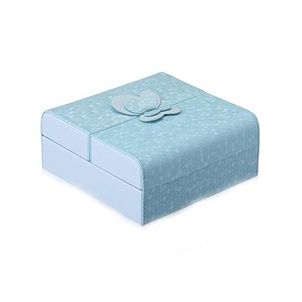 WSX Cajas Para Joyas Caja De Joyería De Cuero Caja De Almacenamiento Cosmética Caso
