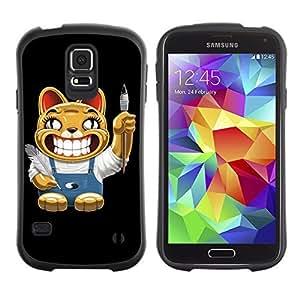 Hybrid Anti-Shock Bumper Case for Samsung Galaxy S5 / Cat