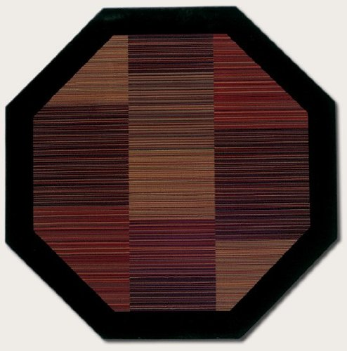 Couristan 0766/4998 Everest Hamptons/Multi Stripe 3-Feet 11-Inch Octagon Rug - Multi Stripe Square Rug