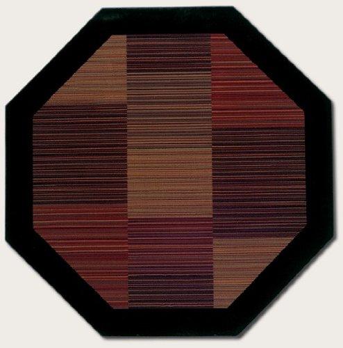 Couristan 0766/4998 Everest Hamptons/Multi Stripe 3-Feet 11-Inch Octagon Rug (3'11 Octagon Area Rug)