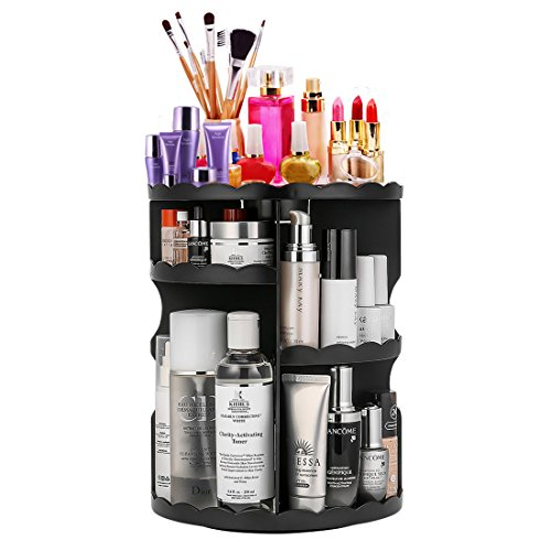 360-Degree Rotating Makeup Organizer, Adjustable Multi-Function Cosmetic Storage Unit, Compact Size with Large Capacity, Fits Different Types of Cosmetics and Accessories, (Multifunction Unit)