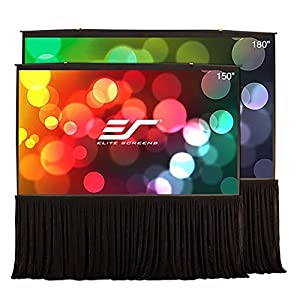 Elite Screens QuickStand 5-Second Series, 150-inch 16:9, Professional Large Venue Portable Projection Screen, Model: QS150HD