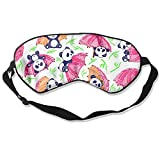 Sleep Mask Fun Panda Eye Cover Blackout Eye Masks,Soothing Puffy Eyes,Dark Circles,Stress,Breathable Blindfold