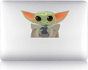ASaBee Green Baby Alien Apple MacBook Air/Pro/Retina 13/15/17 Vinyl Sticker Skin Decal Cover