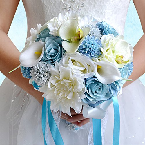 Zebratown Artificial Chrysanthemum Wedding Bouquet product image