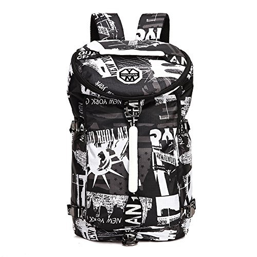 Travel Bag New Creative Luggage Wenl Large capacity Blackandwhitenyc Pattern Backpack wPHqxI0