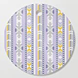 Society6 Wooden Cutting Board, Round, Southwest by karapeters