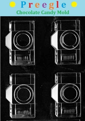 PLP-M090 Camera Flat Back Chocolate Candy Mold by PREEGLE