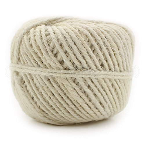 Cream Rope (CleverDelights White Jute Twine - 50 Yards - 2mm Diameter - Eco-Friendly Natural Jute Rope String)