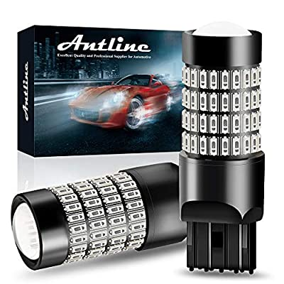 7443 LED Bulbs, ANTLINE Super Bright 4014 102-SMD 7440 7441 7443 7444 T20 992 W21W LED Bulbs with Projector for Brake Tail Lights, Turn Signal Parking or Running Lights, Brilliant Red(Pack of 2): Automotive