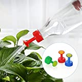 Chris.W Bottle Cap Sprinkler Set, 6 Pack Plastic 28mm Caliber Bottle Watering Spout for Indoor Seedlings, Bonsai, Vegetables
