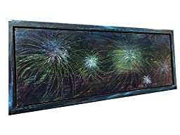 "Abstract Art on Wood - ""Fireworks Sky\"