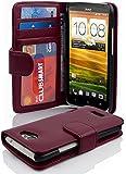 HTC ONE X / X+ Hülle in LILA von Cadorabo - Handyhülle mit 3 Kartenfächer für HTC ONE X / X+ Case Cover Schutzhülle Etui Tasche Book Klapp Style in BORDEAUX LILA