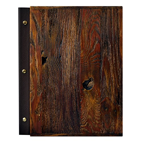 (DWA Menu Holder A4 Size Restaurant Pub Hotel Display Sign Leather Finish (Rusty))