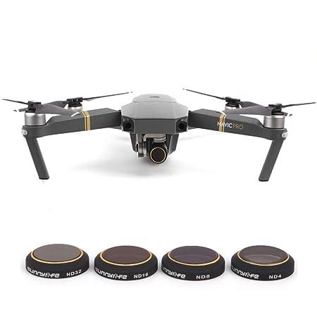 LWL House 4 en 1 HD Drone Camera ND32 / 16/8/4 Juego de filtros de ...