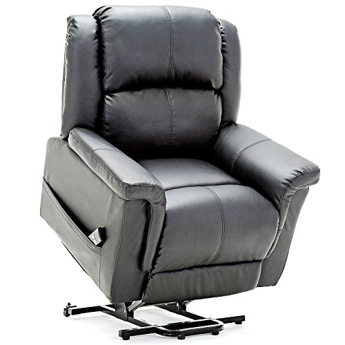 ComHoma Power Lift Recliner Chair Electric Lounge Living Room Sofa Luxurious Bonded Leather Easy Care for Elderly with Remote