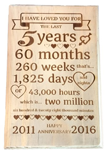 Anniversary Gift Decorative Plaque For Her or Him - Laser Personlized Gift for Wife, Husband, Couple Or Even Parents