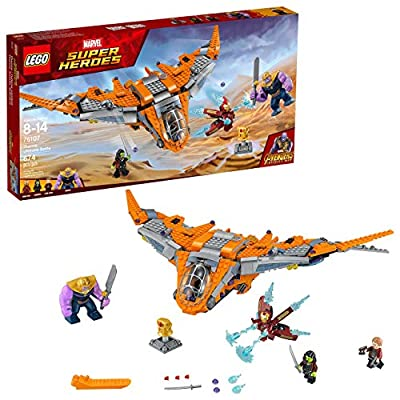 LEGO Marvel Super Heroes Avengers: Infinity War Thanos: Ultimate Battle 76107 Guardians of the Galaxy Starship Action Construction Toy and Building Kit for Kids (674 Piece) (Renewed)