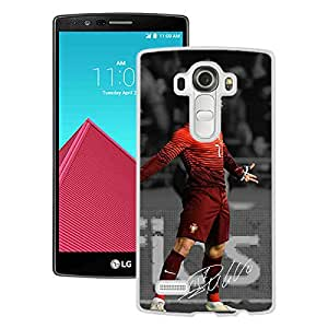 Beautiful And Durable Designed Case With Soccer Player Cristiano Ronaldo 27 White For LG G4 Phone Case