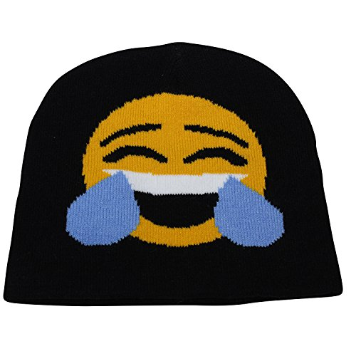 Unisex Emoji Laugh Till You Cry Beanie Hat